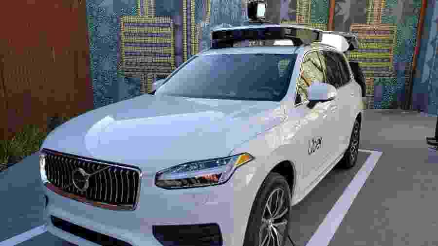 Carro autônomo da Uber estava exposto em evento da empresa realizado em setembro - Rodrigo Trindade/UOL