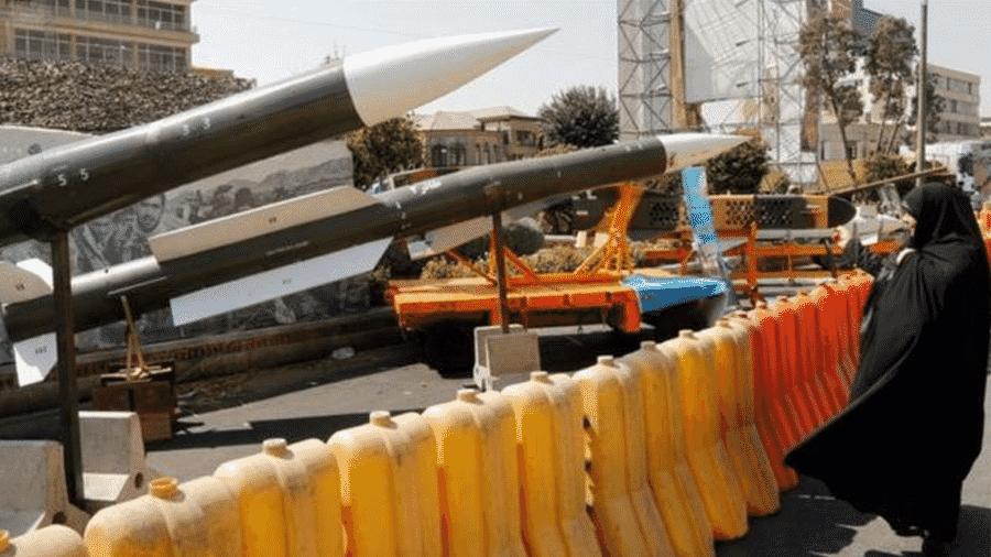 Os mísseis iranianos são uma peça-chave no aparato militar do país - Getty Images