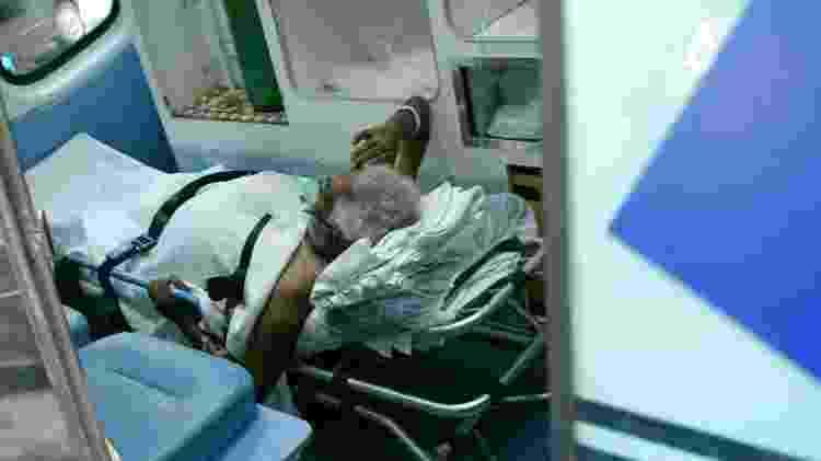 Paciente chega hospital Pacaembu - Ettore Chiereguini/Futura Press/Estadão Conteúdo - Ettore Chiereguini/Futura Press/Estadão Conteúdo