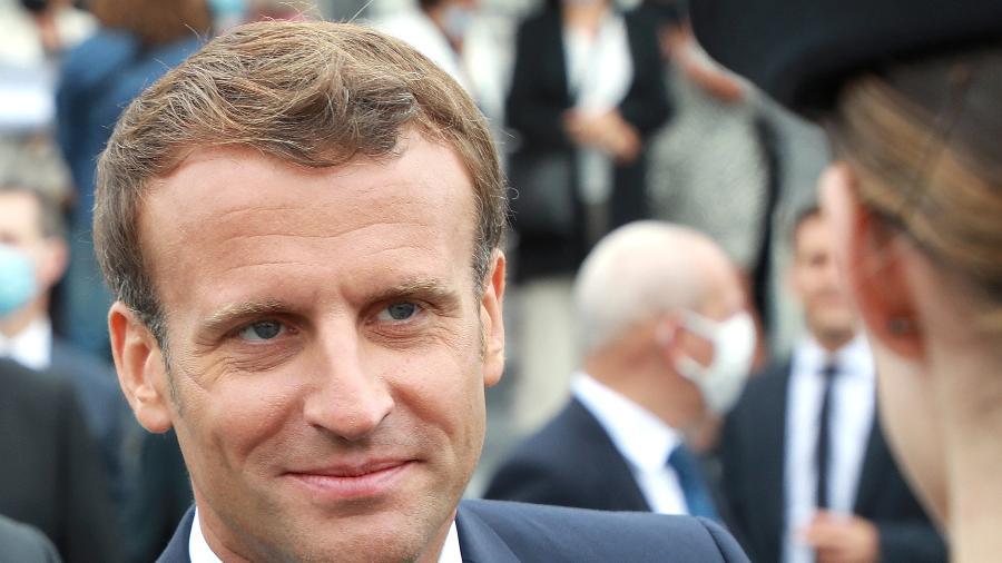 Presidente da França, Emmanuel Macron, em Paris -
