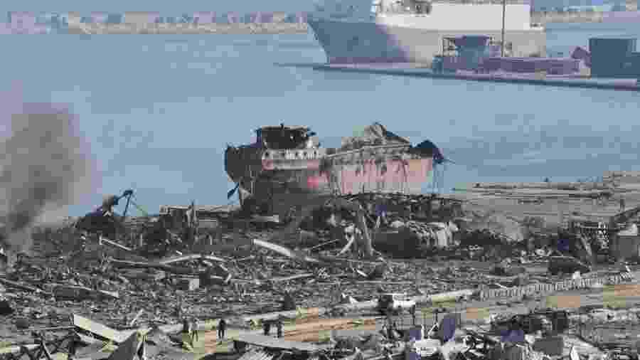 """ONG espera apuração """"livre de qualquer potencial interferência política local"""" para determinar causas de explosão - Anadolu Agency/Anadolu Agency via Getty Images"""