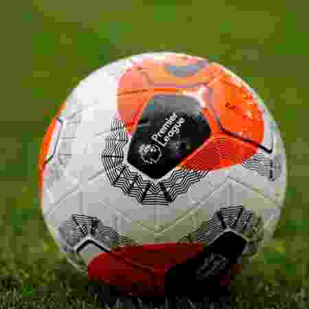 Logotipo da Premier League em bola usada no Campeonato Inglês -