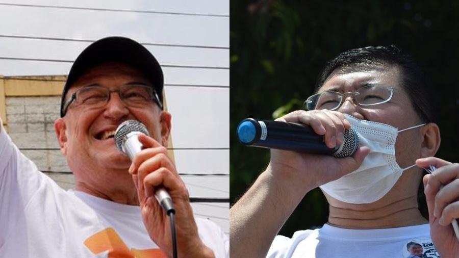 Filippi (PT) e Taka Yamauchi (PSD) estão no segundo turno em Diadema - Reprodução/Redes Sociais