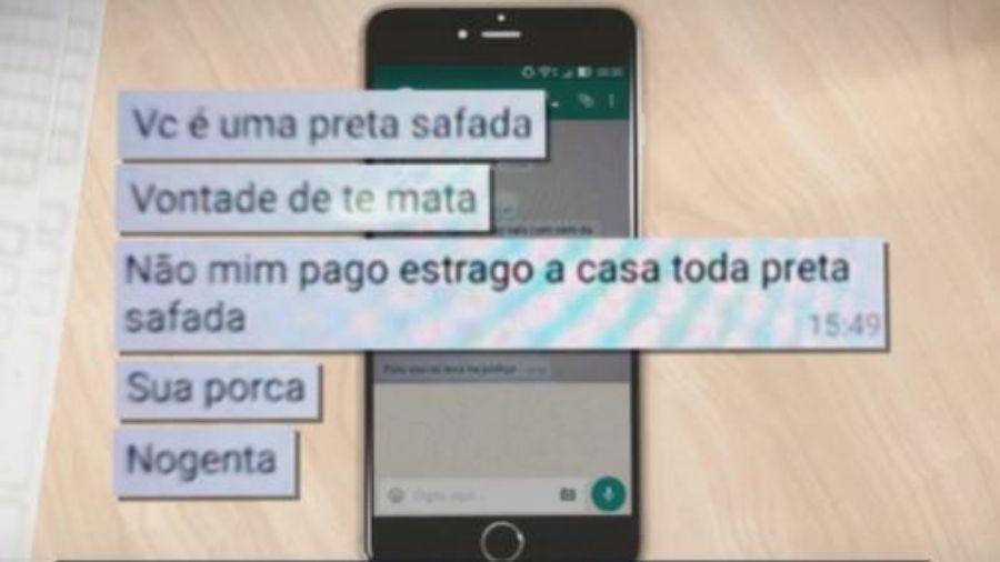 Vítima registrou boletim de ocorrência por injúria racial em delegacia de Anápolis (GO) - Reprodução/TV Anhanguera