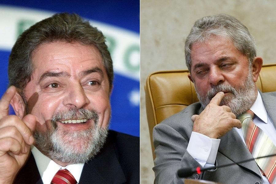 Já Luiz Inácio Lua da Silva realizou seu sonho de comandar o Brasil em 2003, aos 57 anos. Os oito anos à frente do País, que terminaram com aprovação enorme, deixaram marcas claras em sua aparência ? em 2010, aos 65 anos, os fios brancos já consumiam quase todo seu cabelo, que passou também a ficar mais esparso