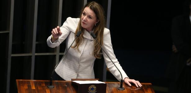 A senadora Vanessa Grazziotin (PCdoB-AM), durante o processo do impeachment