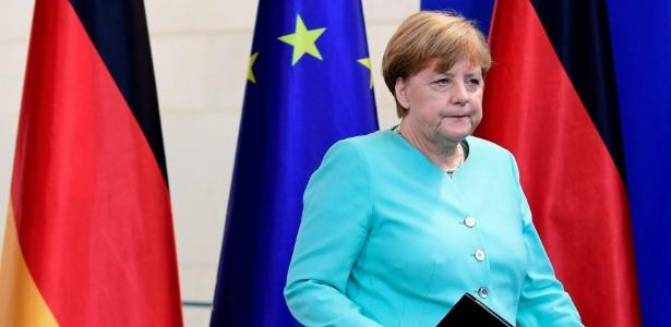 24.jun.2016 - A chanceler (premiê) alemã, Angela Merkel, dá coletiva em Berlim sobre o resultado do referendo britânico