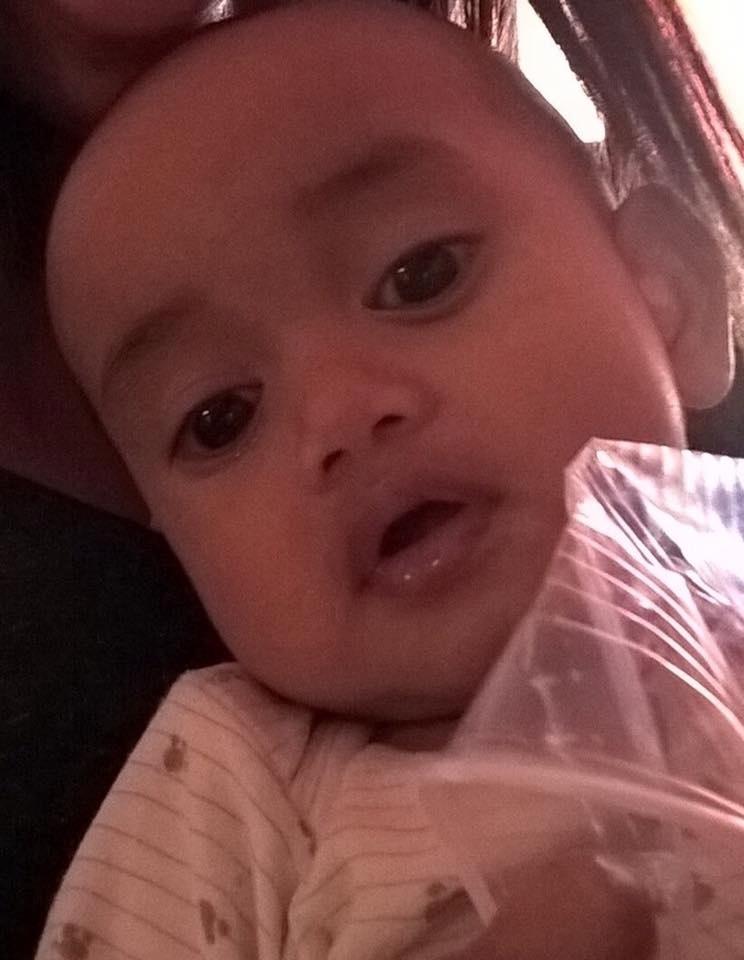 Família de Nice encontra bebê são e salvo graças ao Facebook. A foto foi postada por sua mãe, Tiava Banner