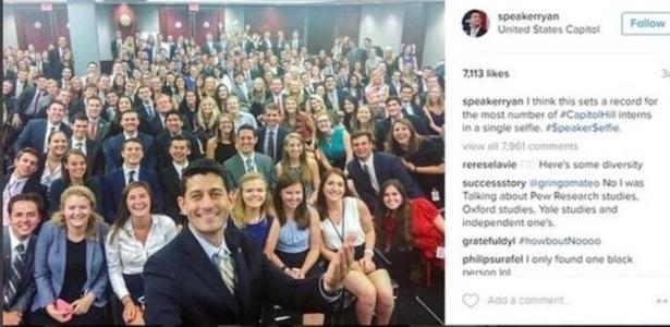 Selfie foi muito criticada nas redes sociais
