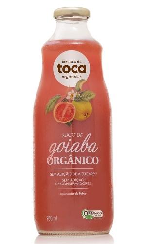 Garrafa de 1 litro de suco orgânico de Goiaba da marca Toca