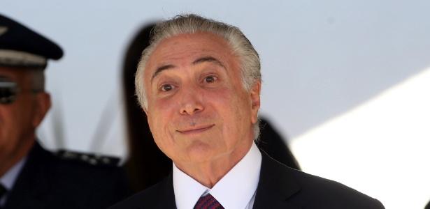 O presidente Michel Temer (PMDB) durante cerimônia realizada nesta sexta em Brasília