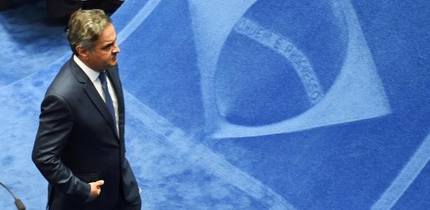 O senador Aécio Neves (PSDB-MG), que foi afastado pelo STF - AFP PHOTO/Evaristo Sa