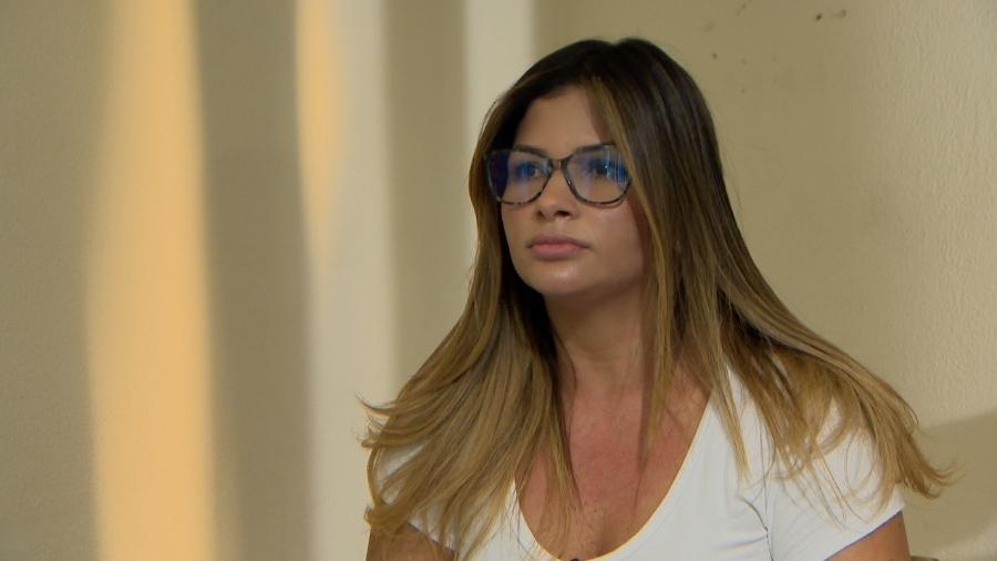 Danubia Rangel, durante entrevista a Roberto Cabrini, do SBT  - Divulgação/SBT - 7.dez.2017