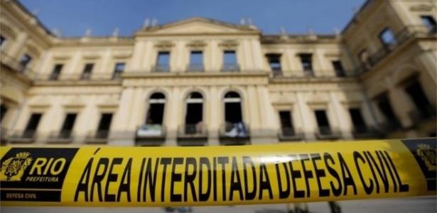 04.set.2018 - Museu Nacional ainda mensura danos após incêndio no domingo (2) - AFP