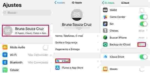 Backup iPhone e iPad - ios - UOL - UOL