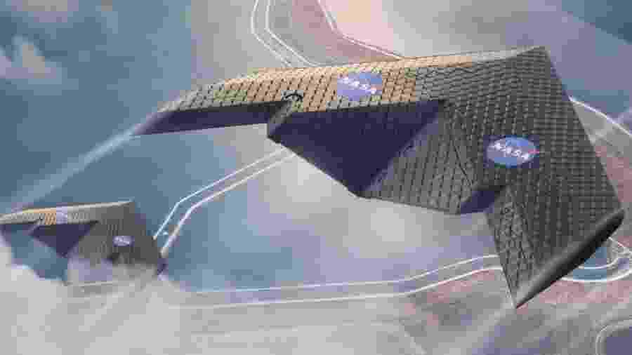 Novo tipo de asa feito pela Nasa consegue se moldar durante o voo - Reprodução