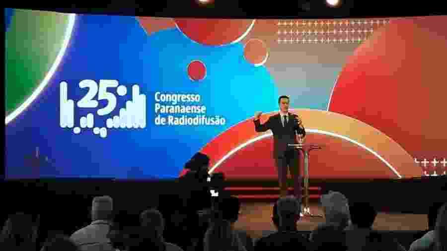 Deltan Dallagnol falou na abertura do Congresso Paranaense de Radiodifusão - Vinicius Konchinski/UOL