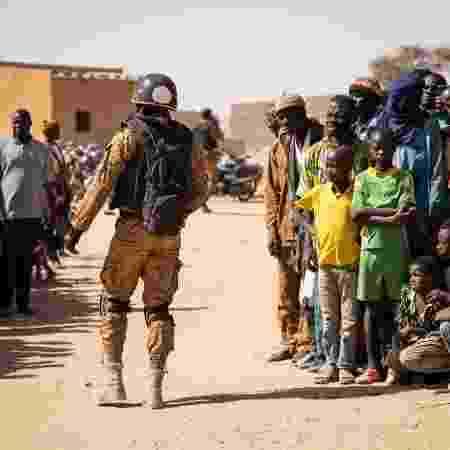 Soldado da Burkina Faso em Dori - OLYMPIA DE MAISMONT/AFP
