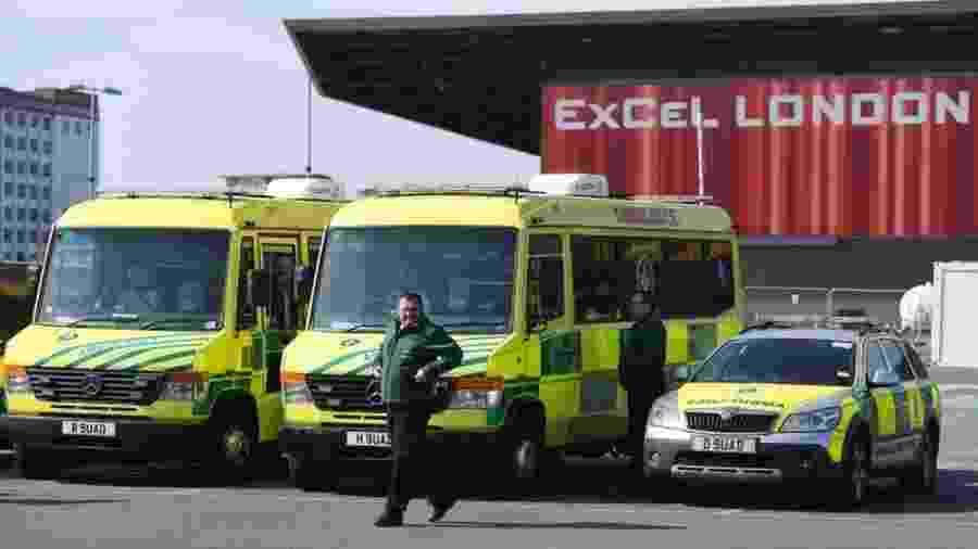 NHS Nightingale: em resposta ao coronavírus, novo hospital temporário está sendo instalado em Londres - Getty Images