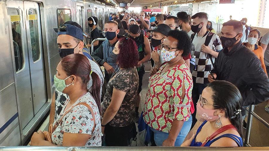 Câmeras já foram instaladas em algumas estações da Linha 3-Vermelha do metrô - Rivaldo Gomes/Folhapress