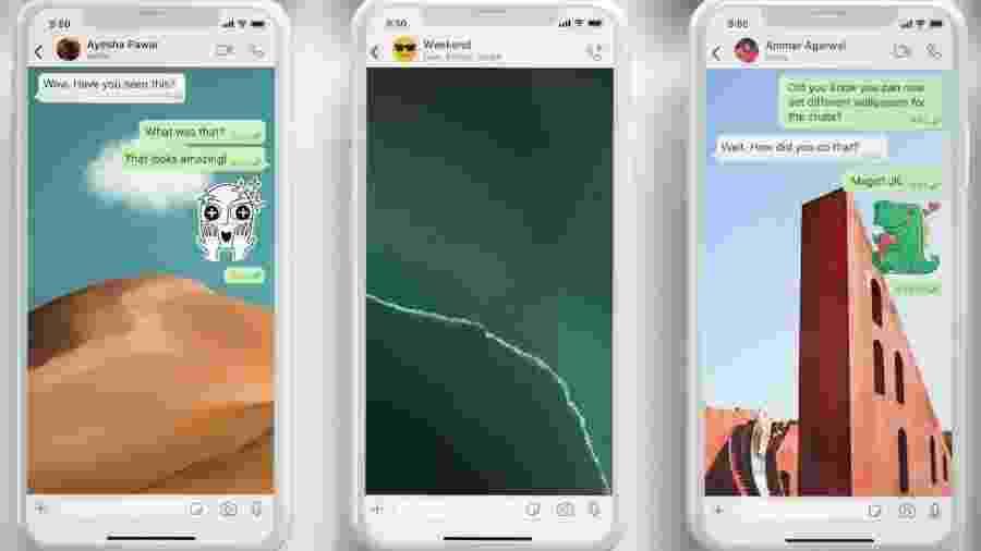 WhatsApp recebe novos wallpapers e pesquisa de figurinha - Divulgação/WhatsApp