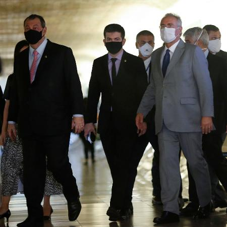 Omar Aziz, Randolfe Rodrigues e Renan Calheiros - Adriano Machado / Reuters