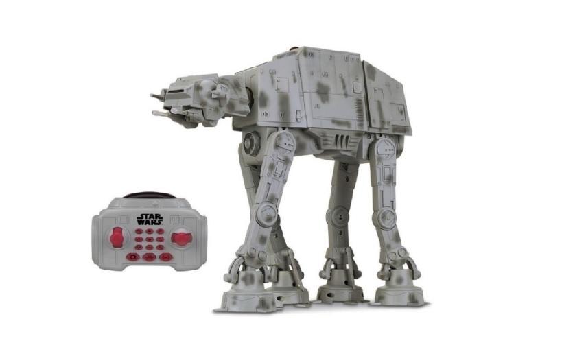 Veículo com controle remoto U-Command Star Wars AT-AT, da marca Toyng. Custa R$ 999,99 no site da Ri Happy