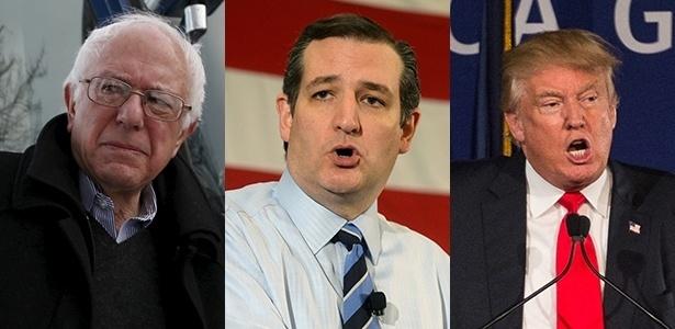 "Bernie Sanders, Ted Cruz e Donald Trump, os ""outsiders"" na corrida pela Casa Branca"
