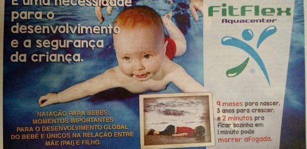 Foto que se tornou símbolo da crise de refugiados na Europa foi usada em propaganda para estimular pais a matricularem seus filhos em aulas de natação