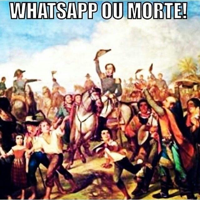 3.mai.2016 - Usuários de redes sociais criam memes após a Justiça de Sergipe mandar as operadoras de telefonia bloquearem os serviços do aplicativo WhatsApp por 72 horas