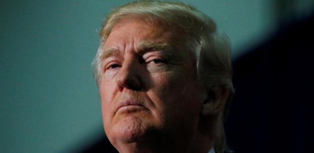 Donald Trump durante campanha em Fredericksburg, Virgínia, EUA