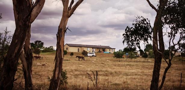 Casa de Haisem Zahab, suspeito de ligação com o Estado Islâmico, na cidade rural de Young, na Austrália