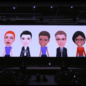 O S9 e o S9 Plus permitem criar emojis 3D com a cara e as expressões dos usuários. - Reprodução/Samsung