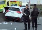 Três suspeitos morrem após perseguição policial em acesso à ponte Rio-Niterói - Reprodução/TV Globo