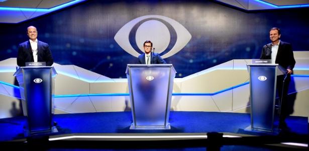10.out.2018 - Os candidatos Wilson Witzel e Eduardo Paes participaram