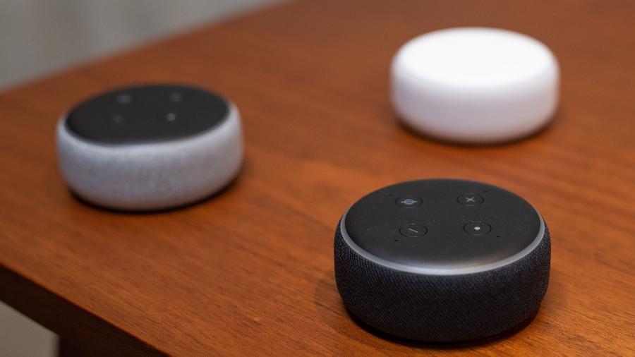 Caixa de som Echo Dot, da Amazon - Grant Hindsley/AFP
