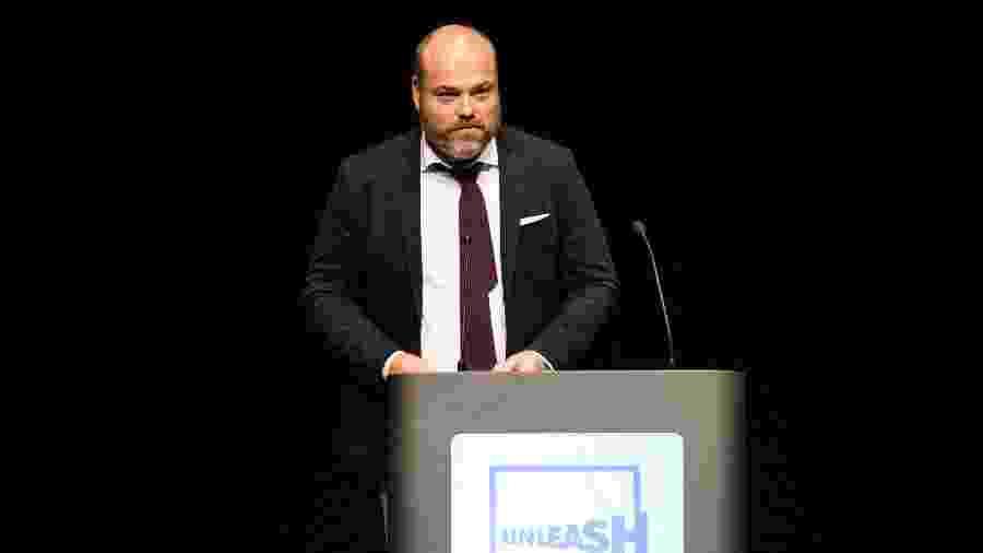 O bilionário dinamarquês Anders Holch Povlsen participa de um evento em Aarhus, na Dinamarca, em agosto de 2017 - Tariq Mikkel Khan/Ritzau Scanpix/AFP