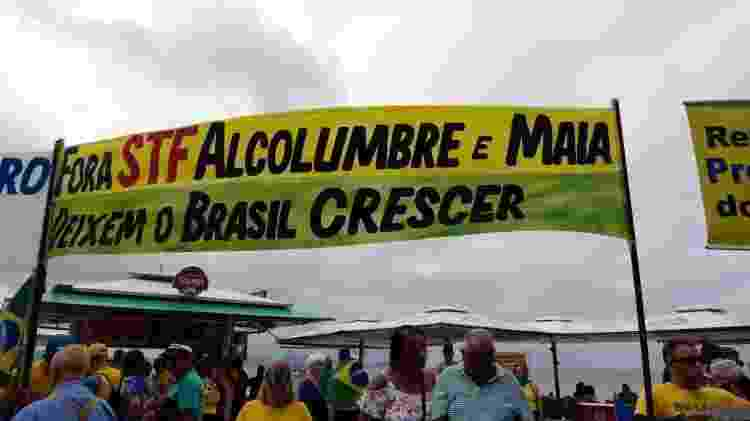 Fora STF no Rio - Ana Luiza Albuquerque/Folhapress - Ana Luiza Albuquerque/Folhapress