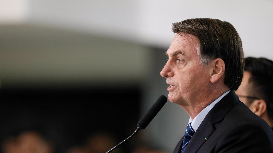 3.out.2019 - O presidente Jair Bolsonaro já havia anunciado que implementaria 13º salário a beneficiários do Bolsa Família - Isac Nóbrega/PR