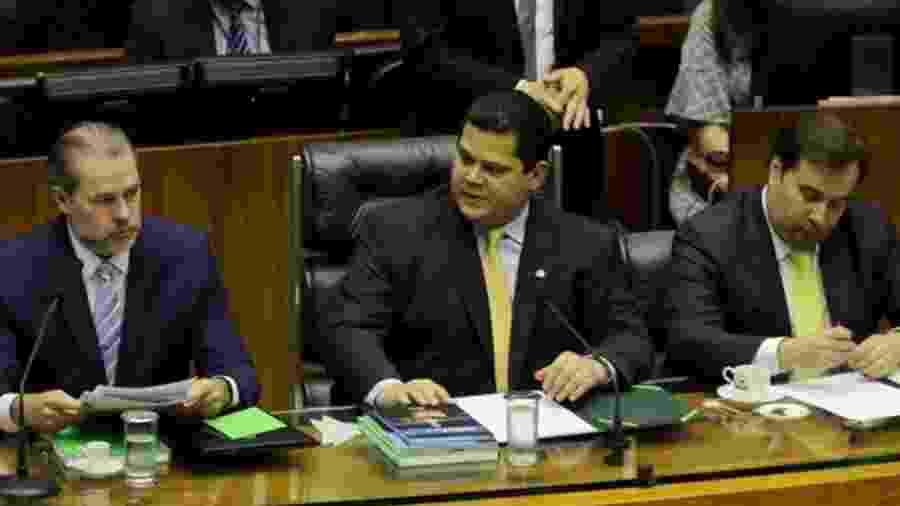 Dias Toffoli (esq.) encerrá seu mandato de dois anos na presidência do STF em setembro - ABR