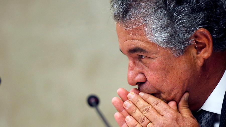 Ministro Marco Aurélio Mello durante sessão do STF - Por Lisandra Paraguassu