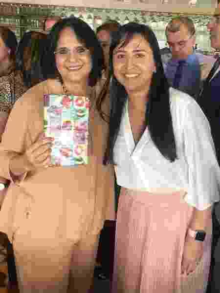 Damares (à esquerda) com Sandra Terena, secretária de Políticas de Promoção da Igualdade Racial - Reprodução/Instagram