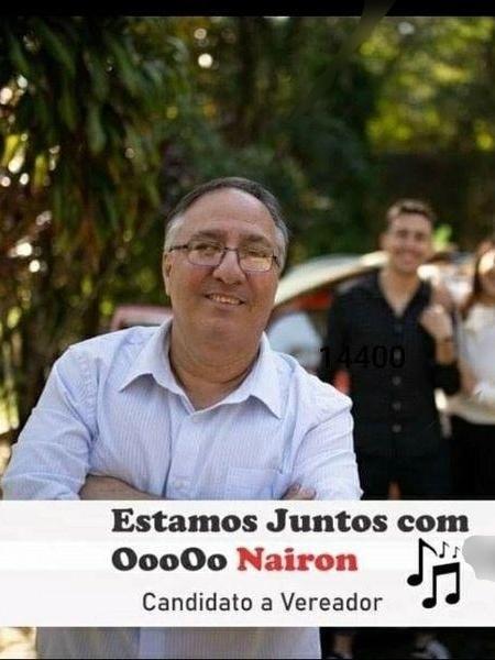 Santinho do candidato OooOo Nairon - Divulgação