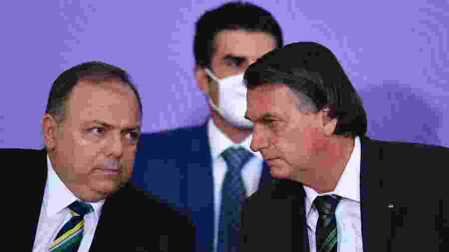 Bolsonaro participou de evento do Ministério da Saúde sobre vacinação contra covid-19 - MATEUS BONOMI/AGIF - AGÊNCIA DE FOTOGRAFIA/ESTADÃO CONTEÚDO
