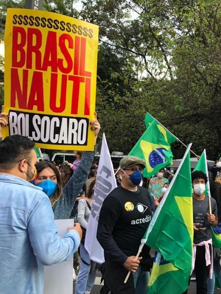 3.Jul.2021 - Ato contra o presidente Jair Bolsonaro (sem partido) em São Paulo  - Gabriela Sá Pessoa/UOL