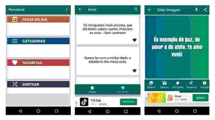 App para fazer mensagem para Dia dos Avós (Android) 4 - Reprodução - Reprodução