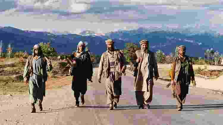 Os mujahideen de Ahmad Shah Massoud nos anos 90 - Patrick Robert/Getty Images / BBC News Brasil - Patrick Robert/Getty Images / BBC News Brasil