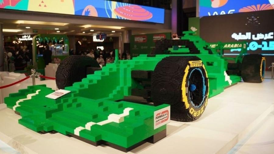 Carro de F1 foi construído com mais de meio milhão de peças de Lego na Arábia Saudita - Divulgação/ GP da Arábia Saudita