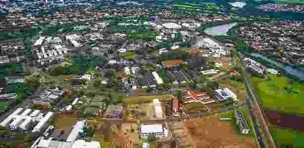 Vista aérea do campus da Unicamp, em Campinas - Unicamp