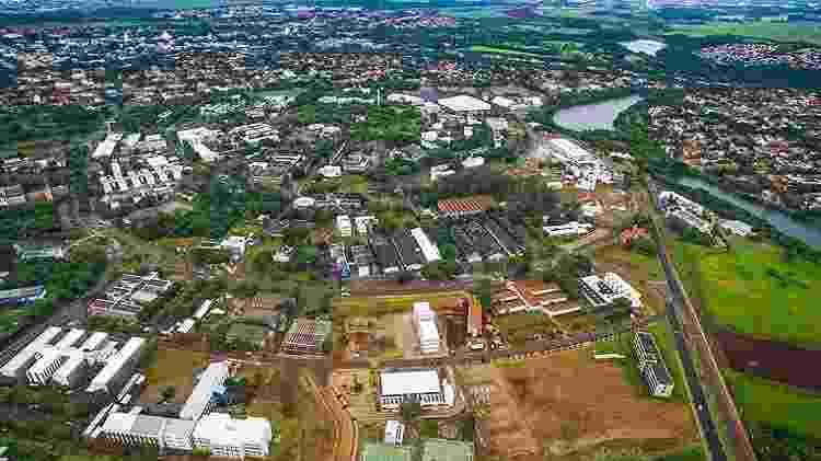 Vista aérea do campus da Unicamp, em Campinas - Unicamp - Unicamp